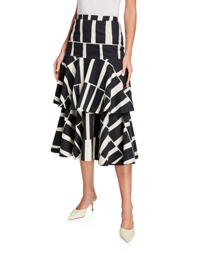 Vanguard Cotton Midi Skirt