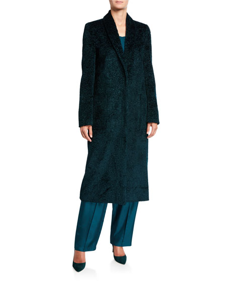 LAPOINTE Pebbled Velvet Tailored Coat