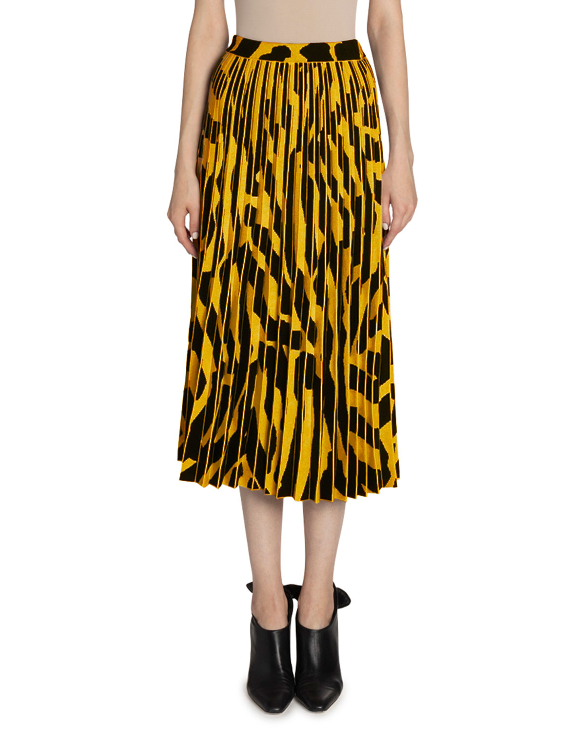 Proenza Schouler Skirts PRINTED ACCORDION PLEATED MIDI SKIRT