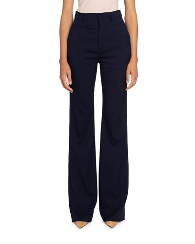 High-Waist Straight Leg Pants