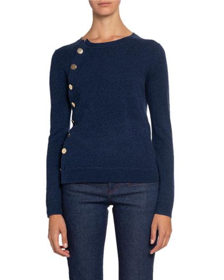 Altuzarra Cashmere Crewneck Button-Front Sweater