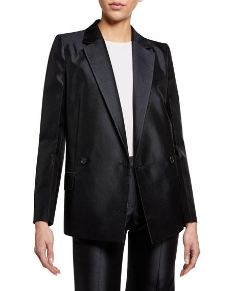 Givenchy Wool-Silk Structured Blazer