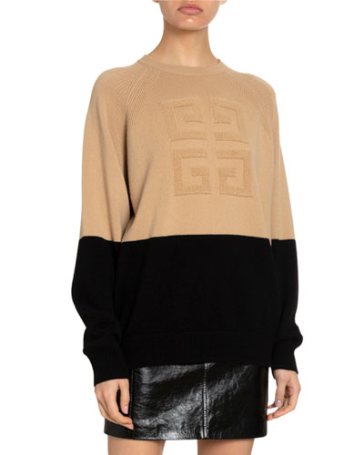 4G Cashmere Logo-Embroidered Sweater