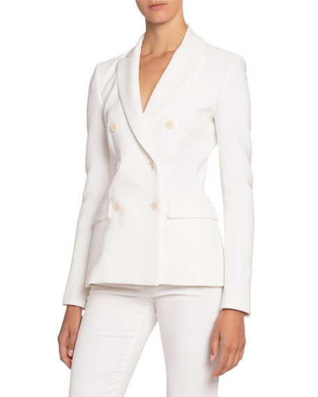 Altuzarra Double-Breasted Crepe Blazer