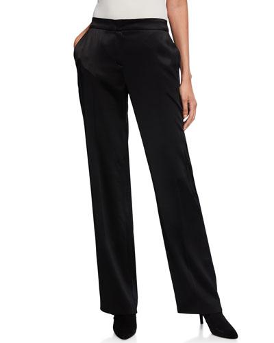 Talicka Satin Straight-Leg Trousers
