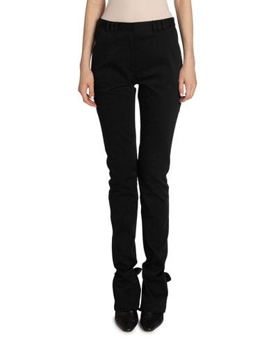 Cotton Skinny-Leg Pants