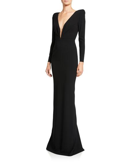 Alex Perry Alex Long-Sleeve Column Gown