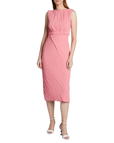 Jason Wu Collection Asymmetric Crinkled Satin-Back Crepe Dress