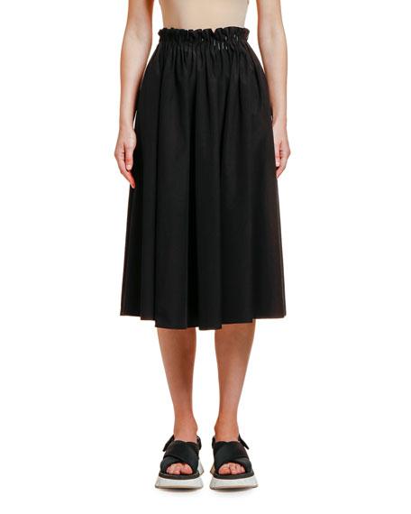 Marni Cotton Poplin Midi Skirt
