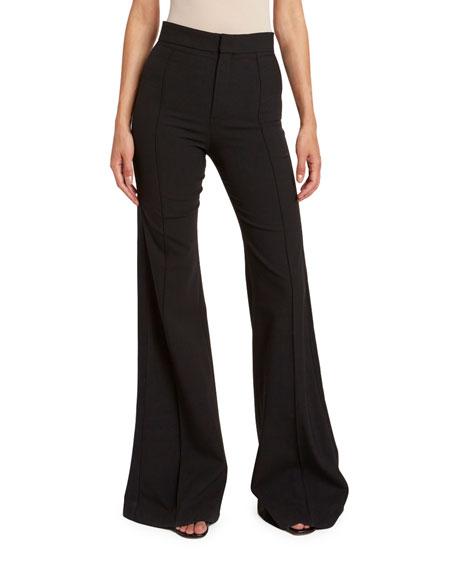 Chloe Stretch Wool Flare Pants