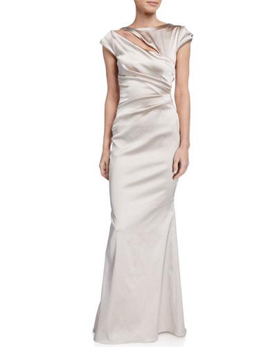 Duchesse Cap-Sleeve Gown