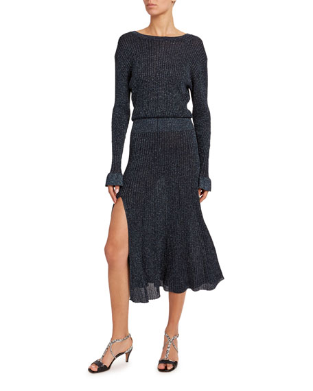 Chloe Shimmer Knit Dress