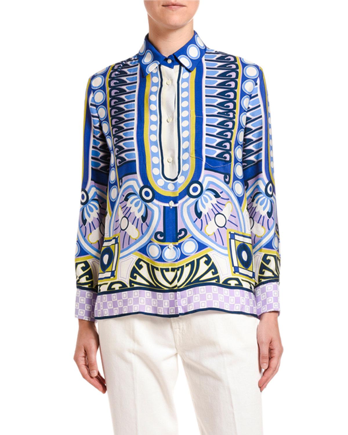 Abstract Print Sable Boy Shirt