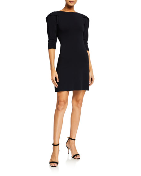 Stella McCartney Puff-Sleeve Compact Knit Dress