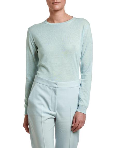 Stella McCartney Lightweight Wool Crewneck Sweater