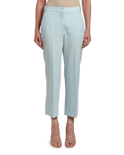 Wool Tailored Crop Pants