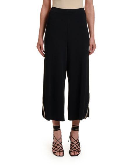 Stella McCartney Embroidered Compact Knit Trousers