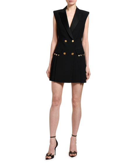 Versace Sleeveless Blazer Dress
