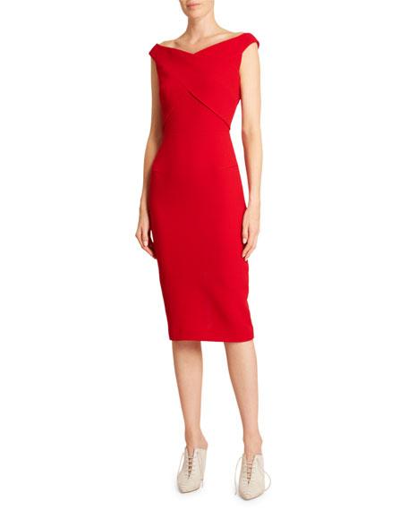 Roland Mouret Armarula Double Wool Crepe Dress