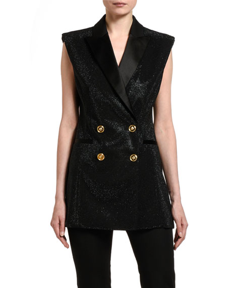 Versace Sparkle Double-Breasted Vest