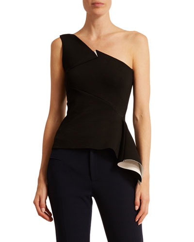 Rydal One-Shoulder Double-Face Top