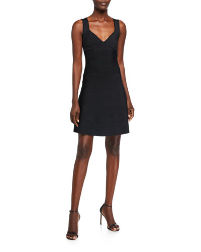Icon Flare-Skirt Sleeveless Dress