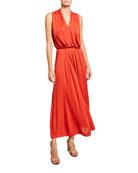 Loro Piana Draped Jersey Sleeveless Dress and Matching