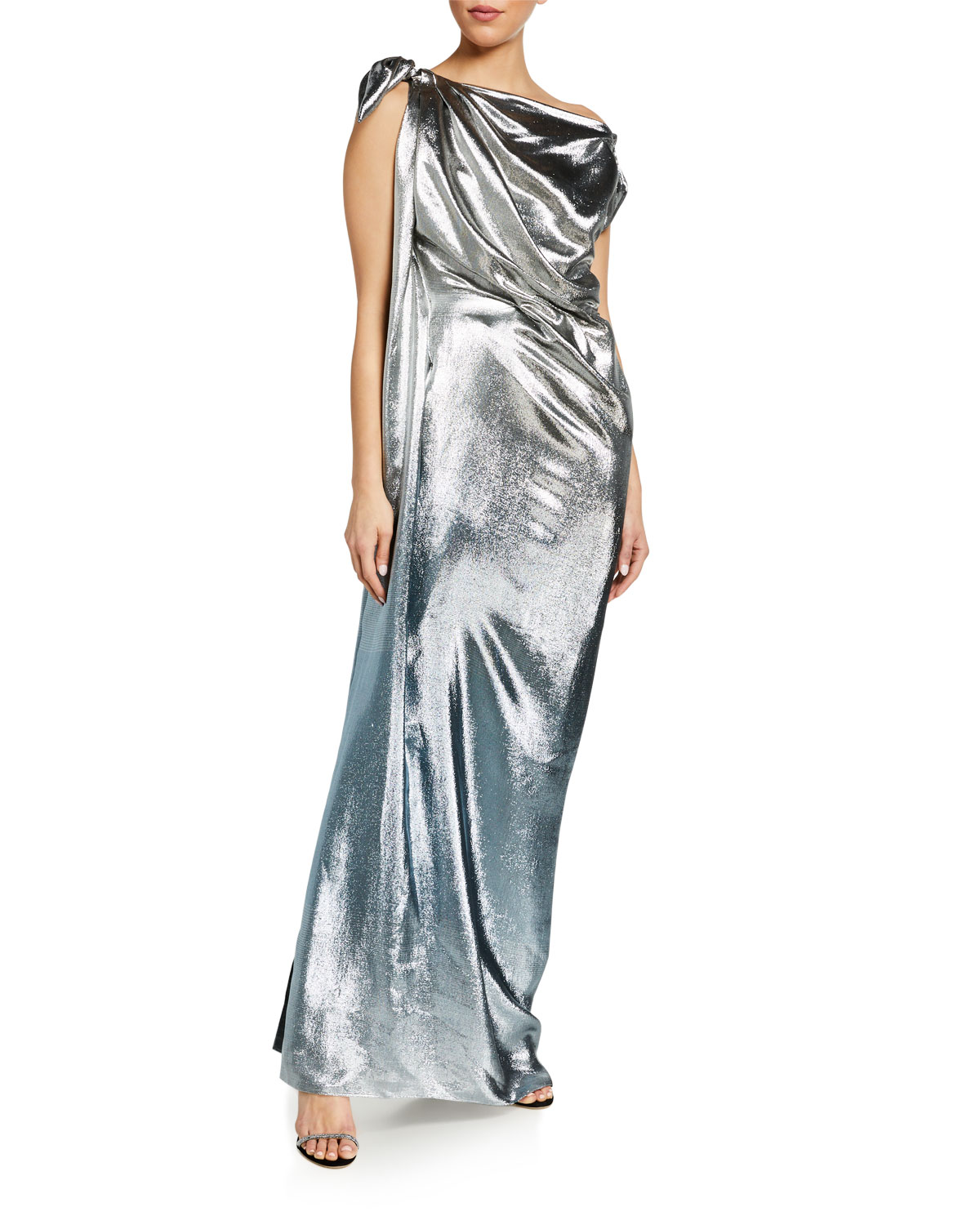 Roland Mouret Tops SILVABELLA DRAPED COLUMN GOWN
