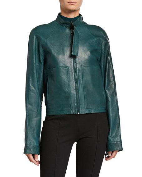 Rosetta Getty Leather Moto Utility Jacket