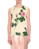 Dolce & Gabbana Floral Knit Cashmere/Silk Sweater