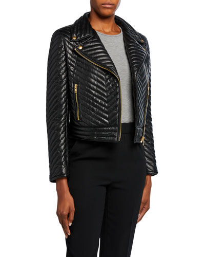 Limana Quilted Leather Jacket