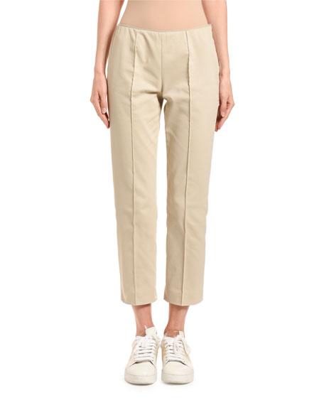 Agnona Slim-Leg Side-Zip Capris