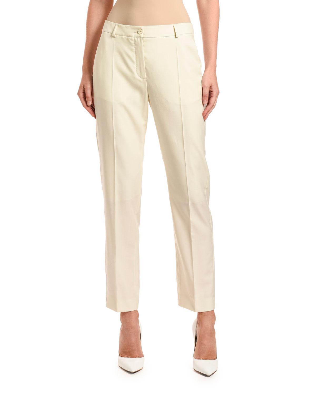 Wool Straight-Leg Lined Pants