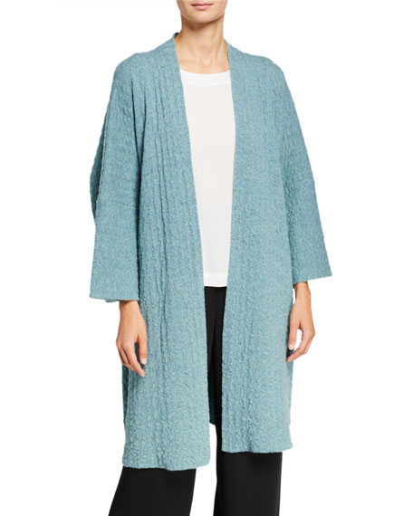 Eskandar Cashmere Long Open Front Jacket