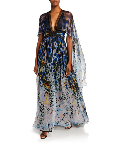Long Dress With Cape