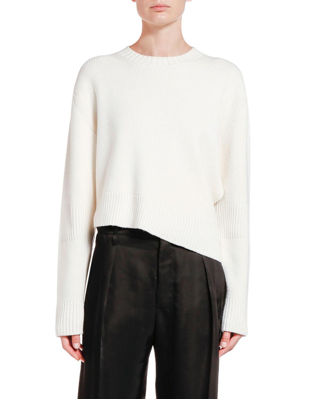 Bottega Veneta Sweaters WOOL ASYMMETRIC CUTOUT SWEATER