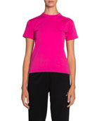 Balenciaga Copyright Fitted Jersey Tee, Pink and Matching