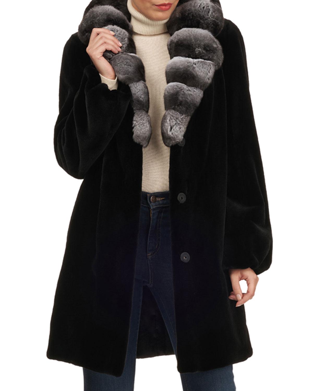 Mink Stroller W/ Chinchilla Collar