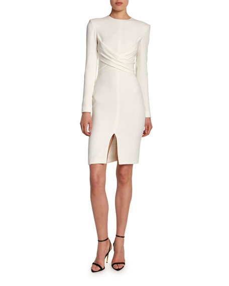 TOM FORD Silk Crisscross-Front Bodycon Dress