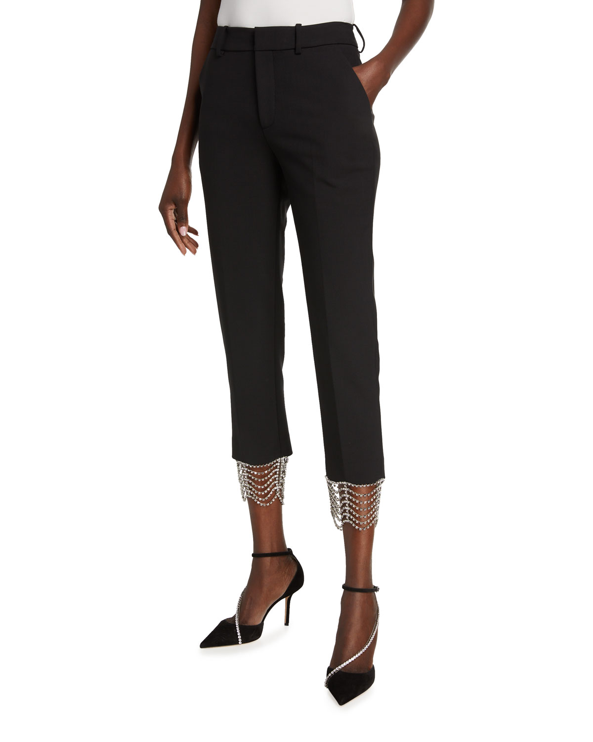 Area Knits CRYSTAL-CAGE CROP PANTS