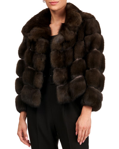 Quilted Russian Sable Fur Jacket