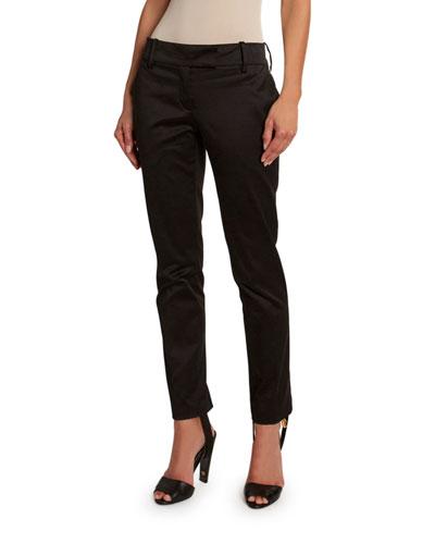 Slim-Leg Pants with Detachable Stirrup