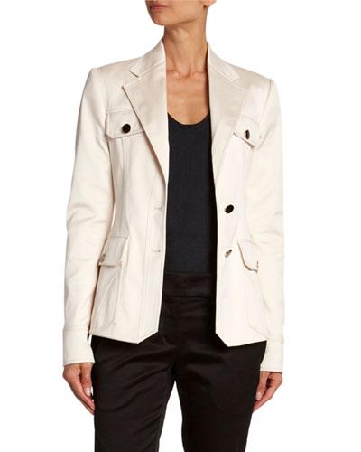 Cotton Safari-Style Jacket