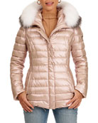 Gorski Zip-Front Quilted Apres-Ski Puffer Jacket W/ Detachable