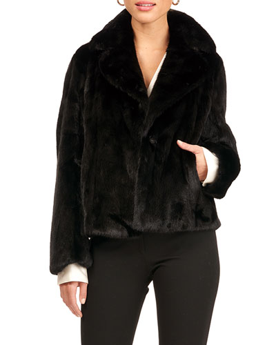 Mink Fur Vertical Jacket