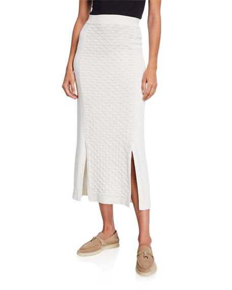 Loro Piana Wave-Paneled Knit Skirt