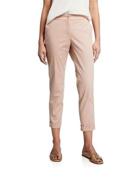 Etro Cuffed Cotton Capri Pants