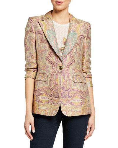 Pastel Paisley Jacquard Jacket