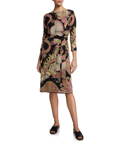 Etro Paisley Self-Belted Dress