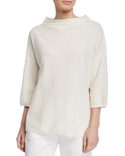 Vodka Textured-Knit Easy Sweater